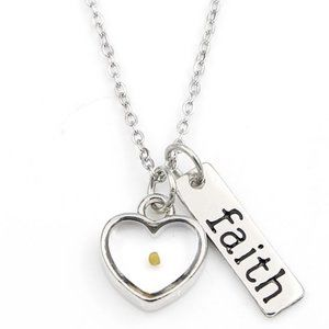 Jewelry - Faith Like A Mustard Seed Necklace Heart